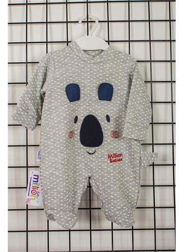 Pelops Kids Million Babies Pandalı Erkek Bebek Patikli Tulum 2083 Mavi